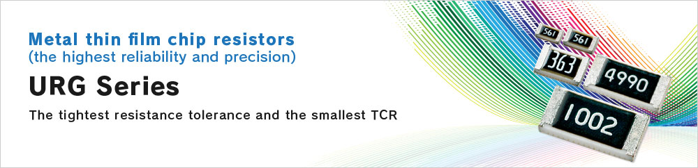 Metal thin film chip resistors(the highest reliability and precision) URG Series